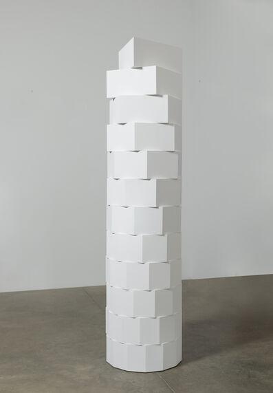 Brandon Lattu, 'Column, White, Natural Progression', 2016