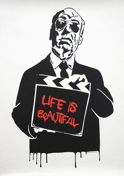 Mr. Brainwash, 'Alfred Hitchcock (aka Life is Beautiful) ', 2009