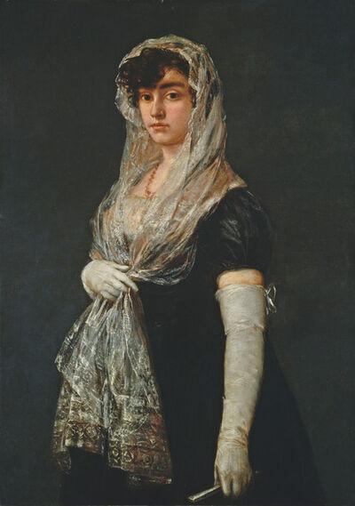 Francisco de Goya, 'Young Lady Wearing a Mantilla and Basquina', ca. 1800/1805