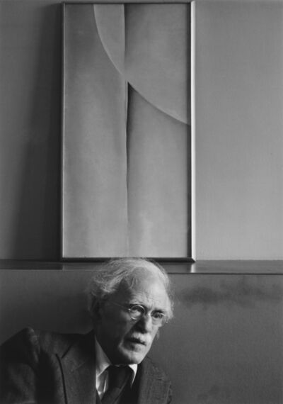 Ansel Adams, 'Alfred Stieglitz and a painting by Georgia O'Keeffe at an American Place, NYC.', 1981