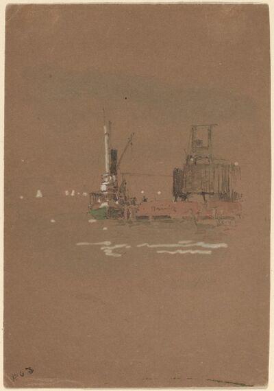 Jasper Francis Cropsey, 'Hudson River Brick Piers', 1886