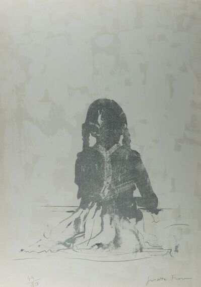 Giosetta Fioroni, 'Portrait at 7 years old', 1989
