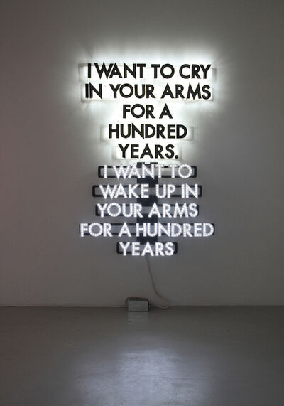 Robert Montgomery, 'A Hundred Years', 2014