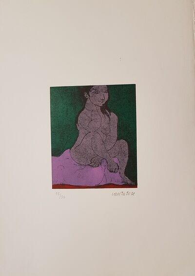 Domenico Cantatore, 'Donna Seduta', 1960