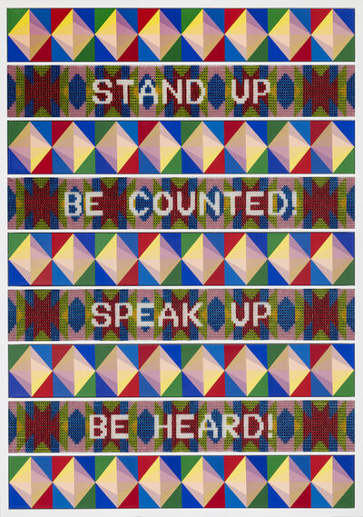 Jeffrey Gibson, 'STAND UP - SPEAK UP', 2020