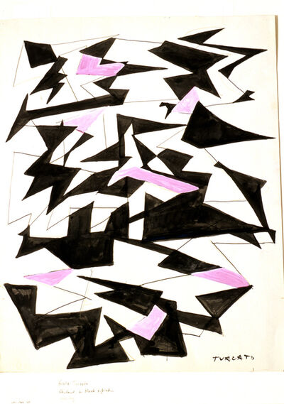 Giulio Turcato, 'Abstract in Black and Pink', 1922-1970