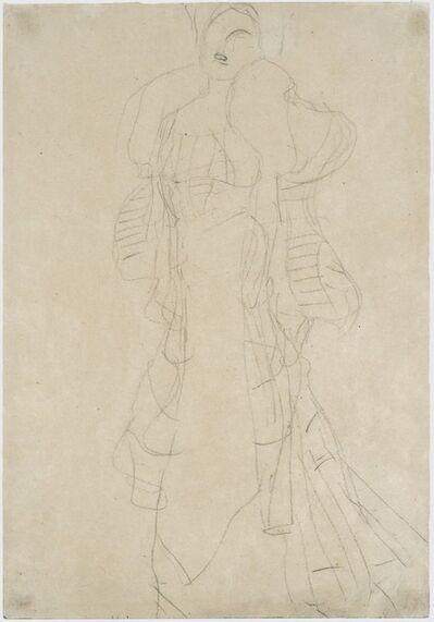 Gustav Klimt, 'Stehende nach links (Studie zu Portrait Hermine Gallia) (Standing Woman (Study for Portrait Hermine Gallia))', 1902