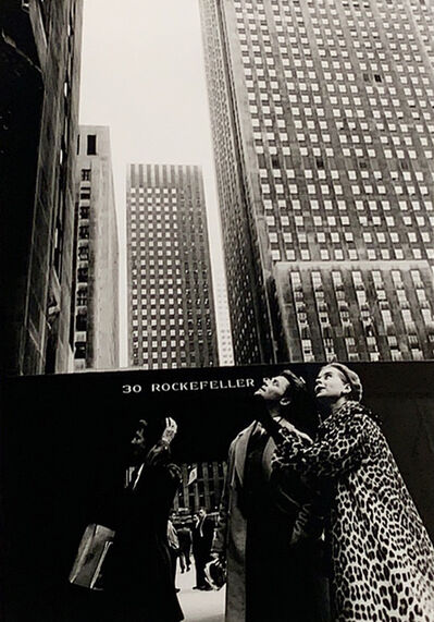 Henri Dauman, 'In front of 30 Rock with Gerard Phillipe & Genevieve Page, NYC', 1958