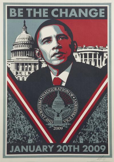 Shepard Fairey, 'Be The Change', 2009