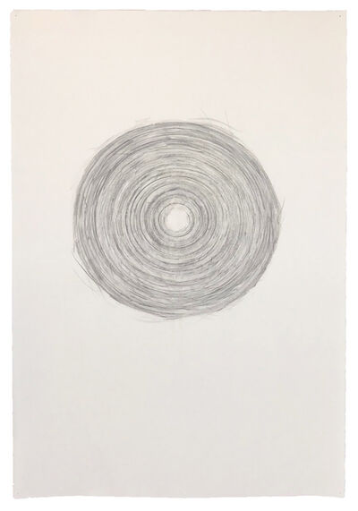 Annette Lawrence, 'Paper Reel Rubbing R (circles 9)', 2010