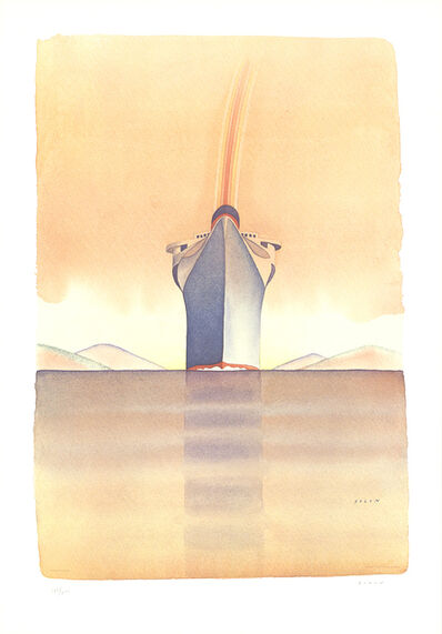 Jean Michel Folon, 'Rainbow on a Boat', 1978