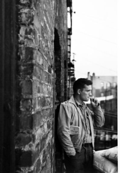 Allen Ginsberg, 'Heroic portrait of Jack Kerouac on fire-escape, 206 East 7th Street, New York', 1953