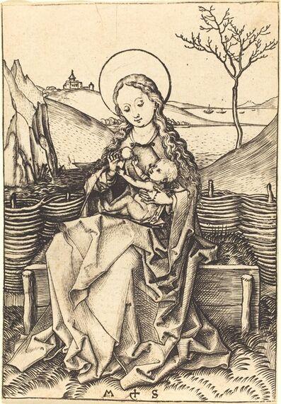 Martin Schongauer, 'Virgin and Child on a Grassy Bench', ca. 1475/1480