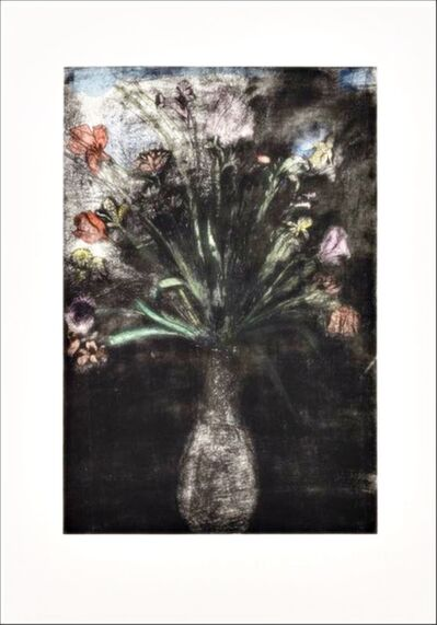 Jim Dine, 'Hand Colored Flowers, State II', 1977-1989
