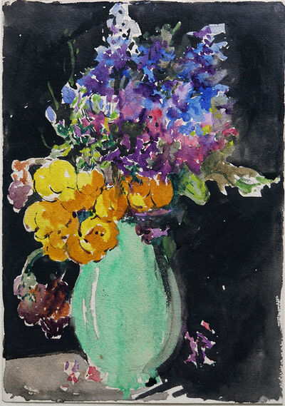Miles Evergood, '(Flowers with green vase)', 1931