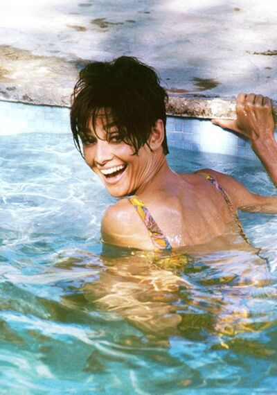 Terry O'Neill, 'Audrey Hepburn Pool Smile', 1966