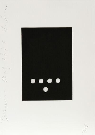 Donald Sultan, 'Dominoes Portfolio - 16', 1990