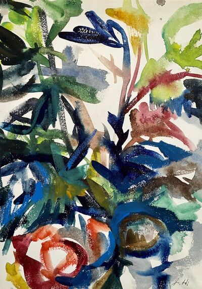 Ian Hornak, 'Untitled (Abstract Still Life with Flowers and Fruit)', 1963