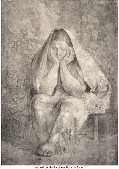 Francisco Zúñiga, 'Mujer sentada con robozo', 1974