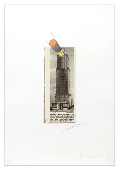 Claes Oldenburg, 'Equitable Building As a Pencil Sharpener', 1995