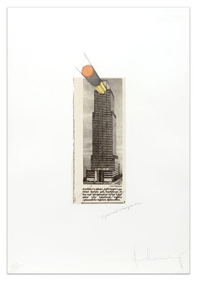 Claes Oldenburg, 'Equitable Building As a Pencil Sharpener', 1995