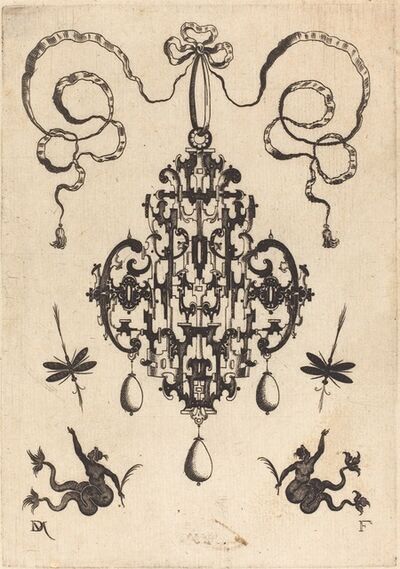 Daniel Mignot, 'Large Pendant, Lower Left and Right Two Creatures of the Sea', 1596