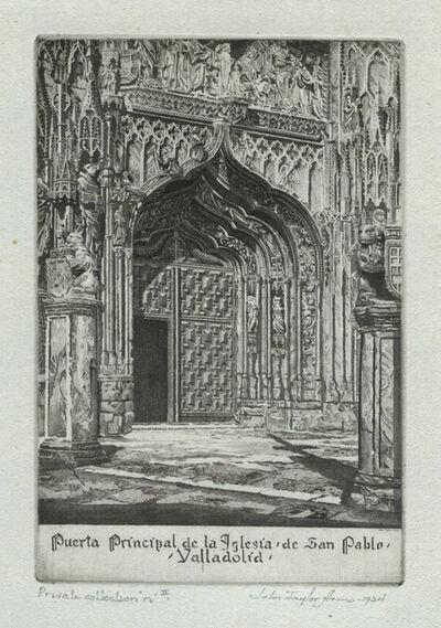 John Taylor Arms, 'Puerta Principal de la Iglesia de San Pablo, Valladolid', 1934