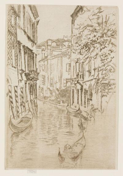 James Abbott McNeill Whistler, 'Quiet Canal', 1879-1880
