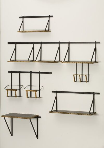 Jacques Adnet, 'Set of Wall Mounted Shelves', ca. 1950