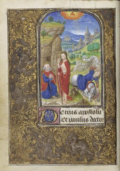 Lievan van Lathem, 'Christ Appearing to Saint Peter, The Conversion of Saint Paul', 1469