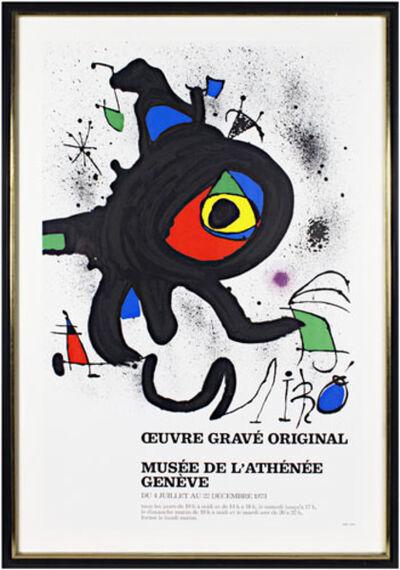 Joan Miró, 'Musee De L'Athenee Ed. of 1000', 1961