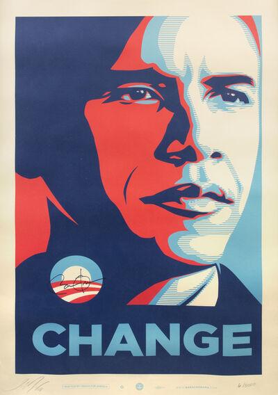 Shepard Fairey, 'Obama: Change', 2008