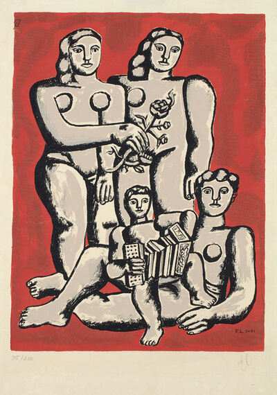 After Fernand Léger, 'Accordianist's family, from Album of 10 Serigraphs', 1954