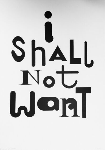 Sarah Staton, 'I Shall Not Want', 1998
