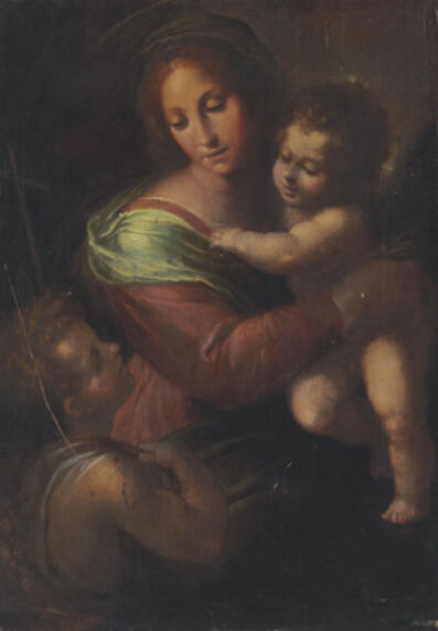 Circle of Giulio Cesare Procaccini, 'The Madonna and Child with Saint John the Baptist'