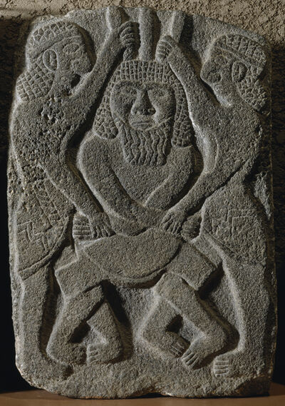 'Relief with Two Heroes ', 9th-10th century
