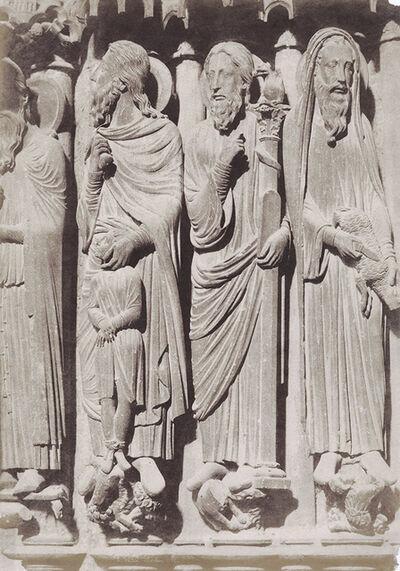 Jean-Louis-Henri Le Secq, 'Chartres (Eure-et-Loir), Cathédrale Notre-Dame Portail Central. Ebrasement Gauche: Moïse, Samuel', 1852/1852c