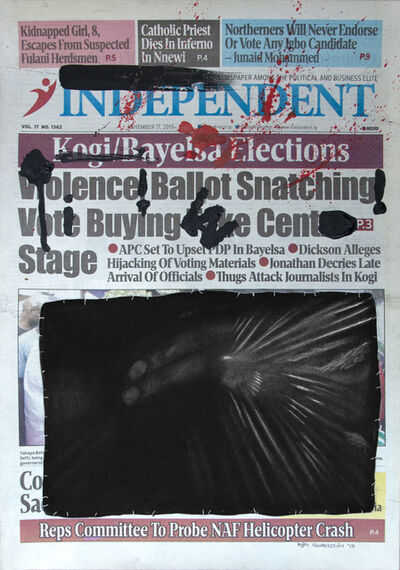 Ken Nwadiogbu, 'Headline Series (no. 8)', 2019