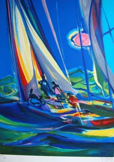 Marcel Mouly, 'Yachtmen Au Ciel Bleu  ', 2004
