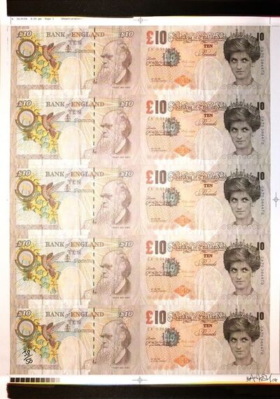 Banksy, 'Di Faced Tenners signed', 2004