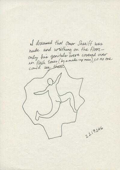 Jonathan Borofsky, 'I dreamed that Omar Shariff was Nude', n.d.