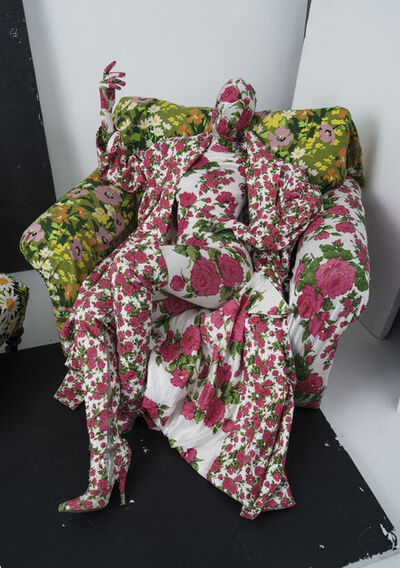 Tim Walker, 'Richard Quinn's floral chair and living mannequin. London, 2016, 2016', print date: 2019