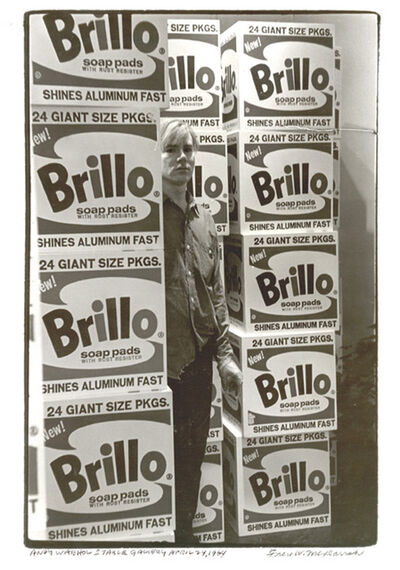 Fred W. McDarrah, 'Andy Warhol with Brillo Boxes, Stable Gallery', April 21-1964
