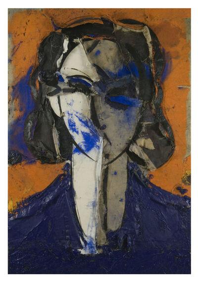 Manolo Valdés, 'Retrato con Fondo Naranja', 2007