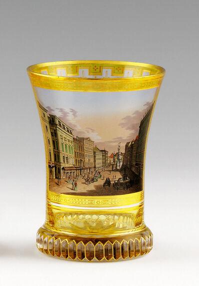 """Anton Kothgasser, 'Beaker (Ranftbecher) with the """"Graben"""" in Vienna', 1820"""