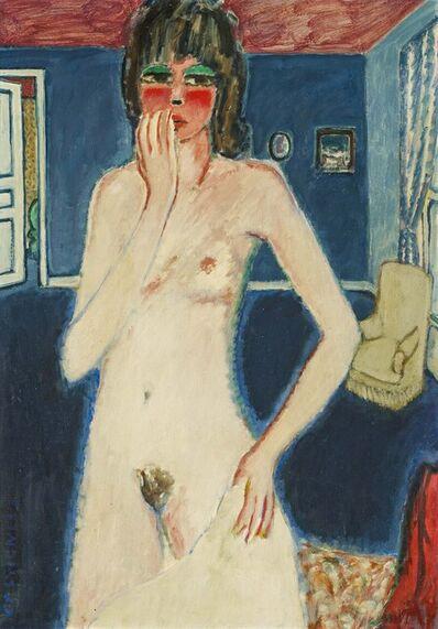 Jean-Pierre Cassigneul, 'Femme nue debout dans la chambre bleue', 1968