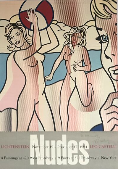 Roy Lichtenstein, 'Nudes with Black Ball (Hand signed, dated and inscribed)', 1994
