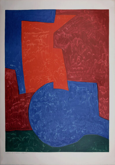 Serge Poliakoff, 'Composition in Red, Blue and Green (After)', 1975