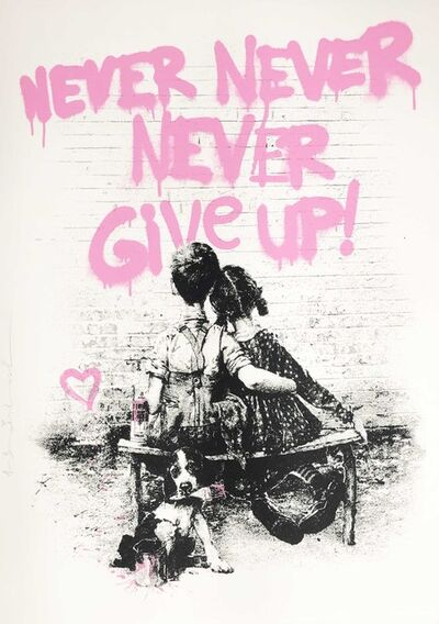 Mr. Brainwash, 'Don't Give Up! - Pink', 2020