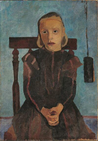 Paula Modersohn-Becker, 'Jeune Fille au Poids d'Horloge', 1900